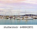 boats mooring in the sea at... | Shutterstock . vector #648842851