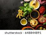 food background food concept... | Shutterstock . vector #648844891