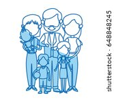 cute family people together... | Shutterstock .eps vector #648848245