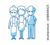 family parent and grandparents... | Shutterstock .eps vector #648848425