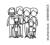 cute family people together... | Shutterstock .eps vector #648848815