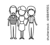 family parent and grandparents... | Shutterstock .eps vector #648849001