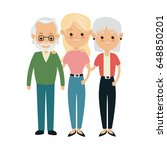 family parent and grandparents... | Shutterstock .eps vector #648850201