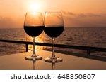 romantic luxury evening on... | Shutterstock . vector #648850807