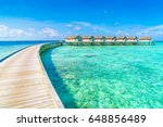 beautiful water villas in... | Shutterstock . vector #648856489