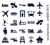 passenger icons set. set of 25... | Shutterstock .eps vector #648857875