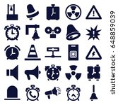 alert icons set. set of 25... | Shutterstock .eps vector #648859039