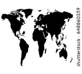 a similar world map on a white... | Shutterstock .eps vector #648860359