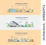 renewable energy | Shutterstock .eps vector #648860911