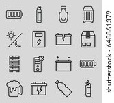 full icons set. set of 16 full... | Shutterstock .eps vector #648861379