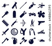 weapon icons set. set of 25...   Shutterstock .eps vector #648861595
