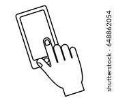 smartphone device icon | Shutterstock .eps vector #648862054