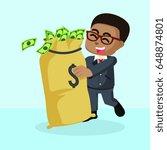 african businessman who love... | Shutterstock . vector #648874801