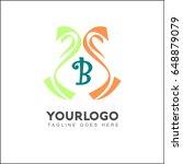 b letter colorful tape logo ... | Shutterstock .eps vector #648879079
