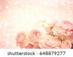 roses background | Shutterstock . vector #648879277