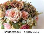 flower bouquet  | Shutterstock . vector #648879619