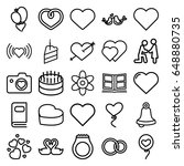 wedding icons set. set of 25... | Shutterstock .eps vector #648880735