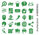 web icons set. set of 25 web... | Shutterstock .eps vector #648880861