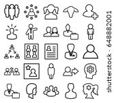 profile icons set. set of 25... | Shutterstock .eps vector #648882001