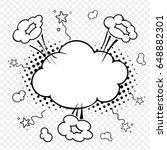art comic explosion. background ... | Shutterstock .eps vector #648882301