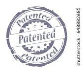 patented grunge stamp   vector | Shutterstock .eps vector #648882685