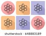 outlined icon of atom model ... | Shutterstock .eps vector #648883189