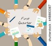 first quarter business report... | Shutterstock .eps vector #648883387