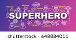 superhero vector trendy banner...