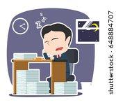 asian businessman sleeping...   Shutterstock . vector #648884707