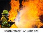 firefighter training  the... | Shutterstock . vector #648885421