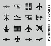 airline icons set. set of 16... | Shutterstock .eps vector #648892561