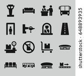 airport icons set. set of 16... | Shutterstock .eps vector #648893935