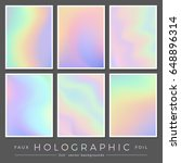 hologram backgrounds  set of... | Shutterstock .eps vector #648896314