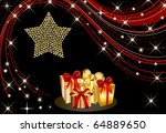illustration of a christmas... | Shutterstock . vector #64889650