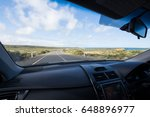 inside of car with dashboard... | Shutterstock . vector #648896977