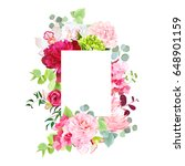 mixed vector design square card.... | Shutterstock .eps vector #648901159