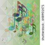 music design background | Shutterstock .eps vector #648901471