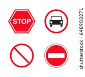 road signs  | Shutterstock .eps vector #648903271