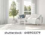 white room with sofa and green... | Shutterstock . vector #648903379