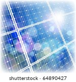 solar power panel   blue sky | Shutterstock .eps vector #64890427