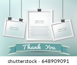 paper photo frames composition. ... | Shutterstock .eps vector #648909091