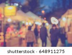 blurred image of  night... | Shutterstock . vector #648911275