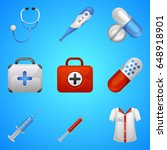 medical beauty icons set....   Shutterstock .eps vector #648918901