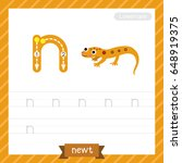 letter n lowercase tracing... | Shutterstock .eps vector #648919375