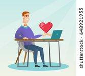 caucasian man looking for...   Shutterstock .eps vector #648921955