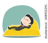 asian businessman sleeping on... | Shutterstock .eps vector #648922291