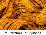 close up golden yellow yarn...   Shutterstock . vector #648935665