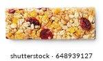 top view of healthy granola bar ... | Shutterstock . vector #648939127