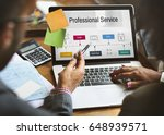 investment professional service ... | Shutterstock . vector #648939571