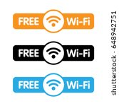 free wifi labels | Shutterstock .eps vector #648942751